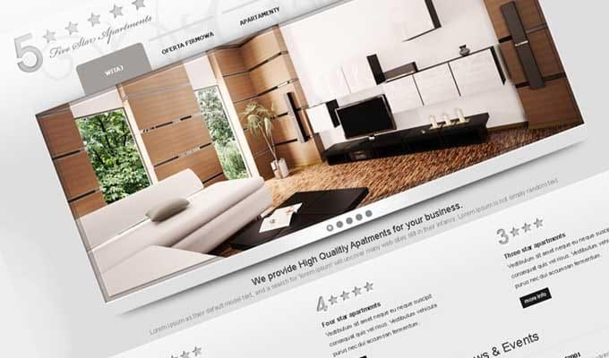 Strona internetowa - 5 apartments