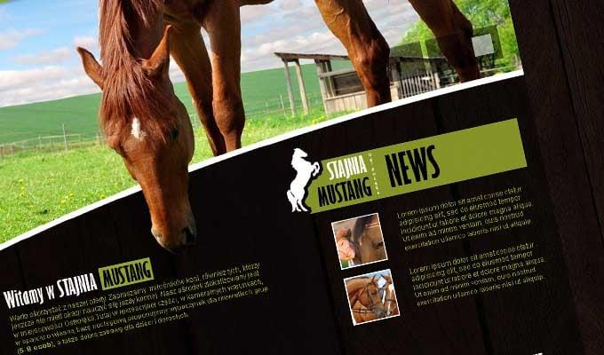 Strona internetowa - Stajnia Mustang w Ostrołęce
