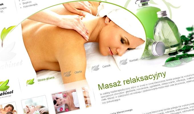 Strona internetowa - Salon masażu
