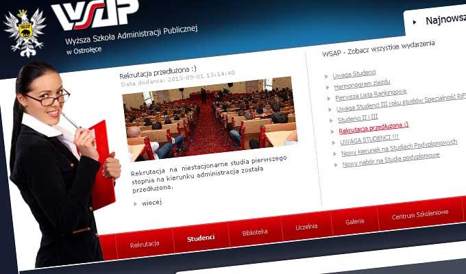 Strona internetowa - WSAP - Ostrołęka