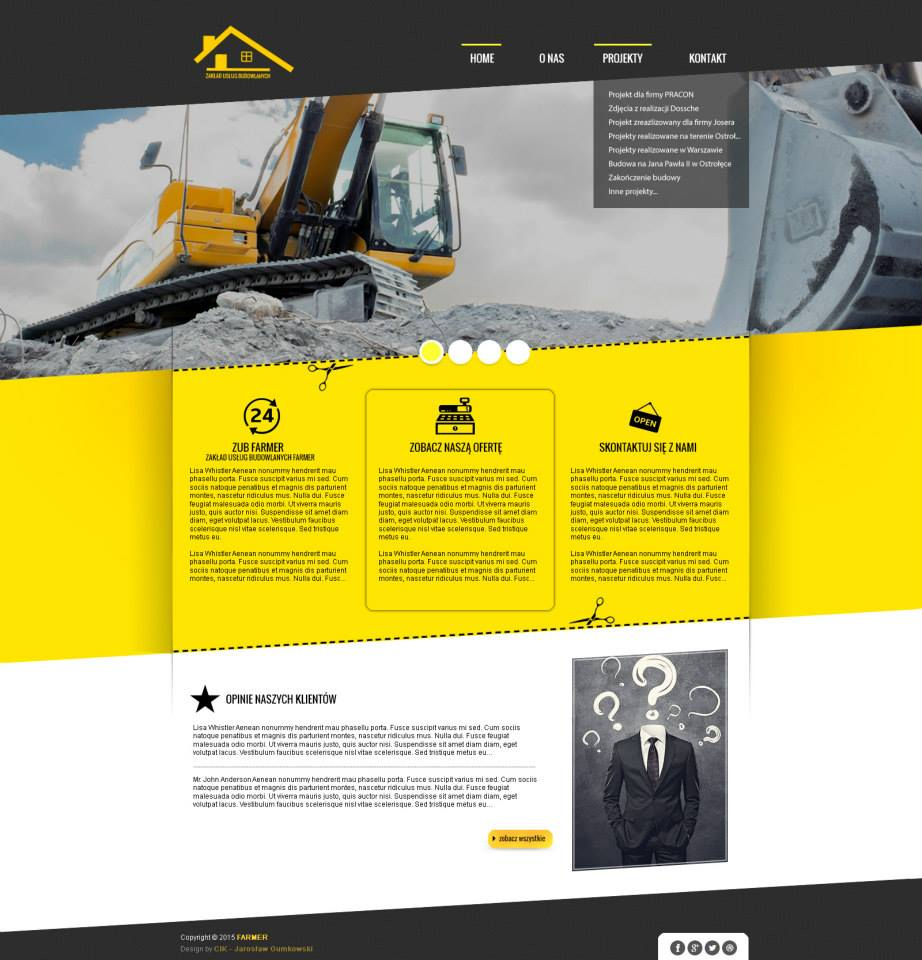 Strona internetowa - Zakład Usług Budowlanych
