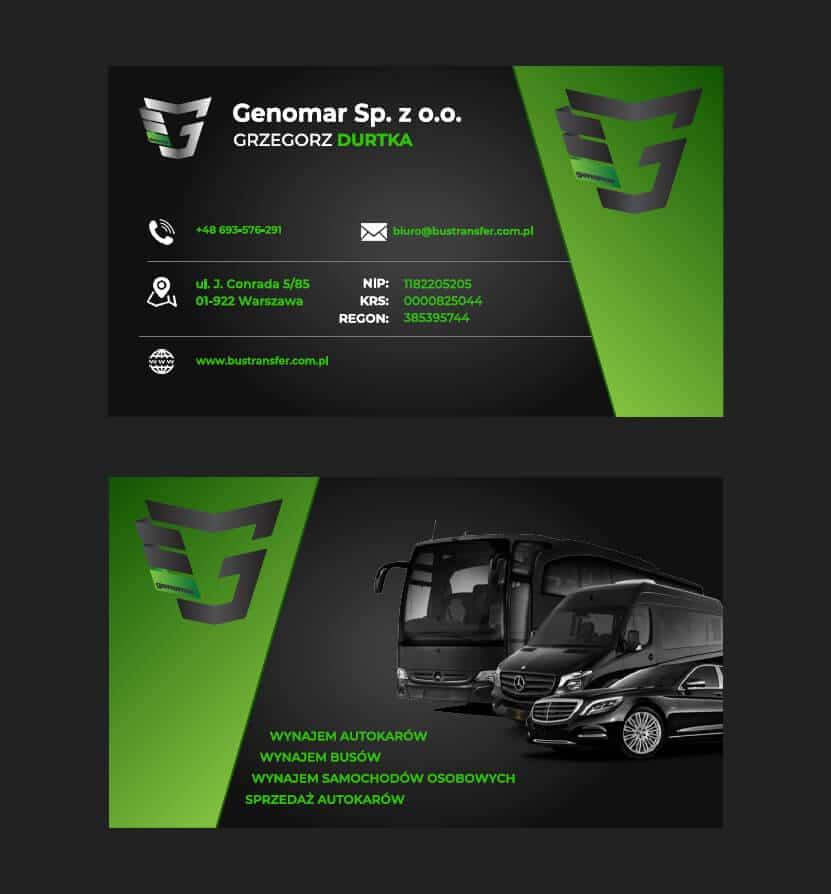 Wizytówka BusTransfer - Przewóz osób