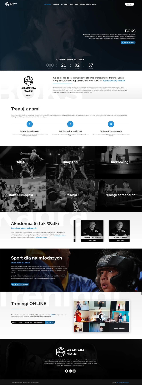 Strona internetowa - Akademia Walki