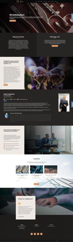 Strona internetowa - RCieSolution - Analityk giełdowy