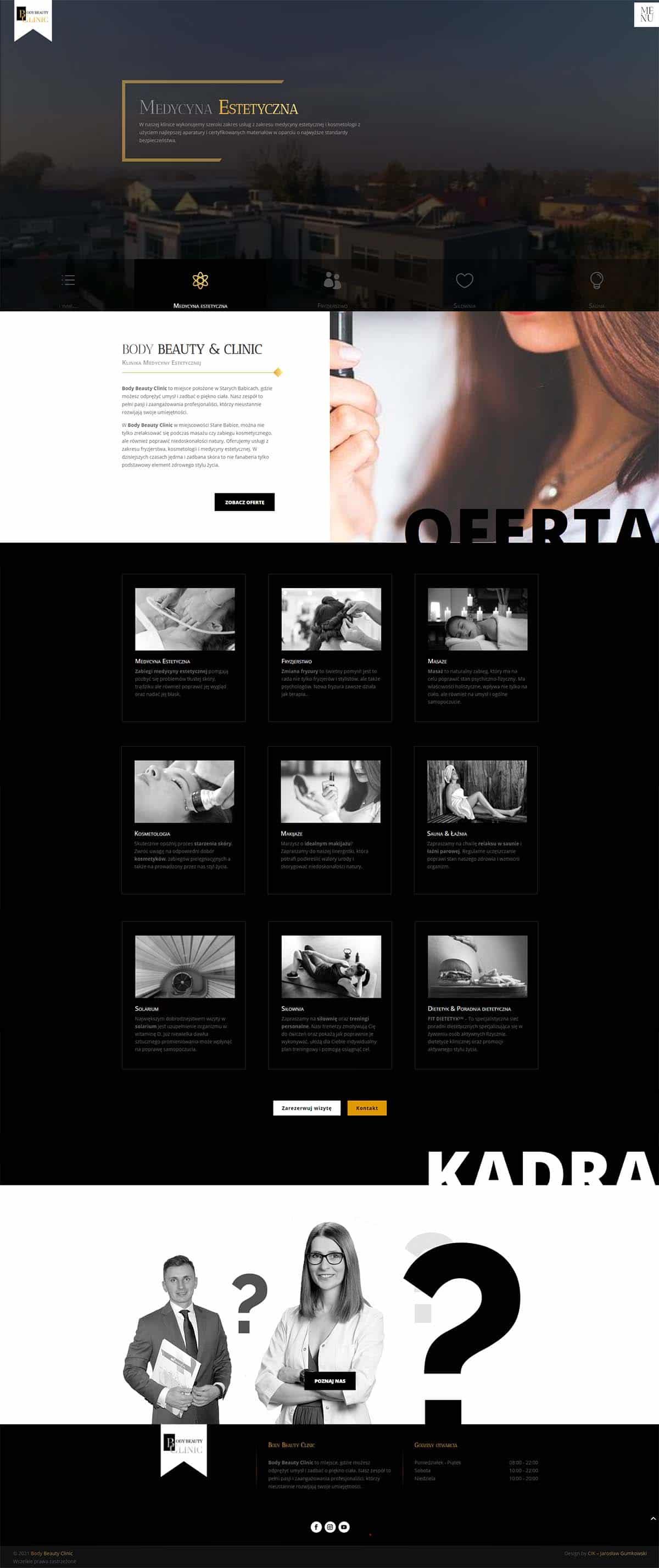 Strona internetowa - Klinika medycyny estetycznej